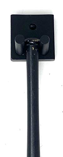 Single Mini Bat Rack Wall Hang Black Display Sport Wall Mount