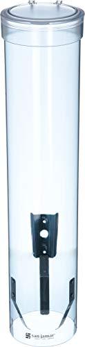 Dispensador de vasos de agua San Jamar, vasos de 120 a 300 ml, tamaño del tubo 406 mm
