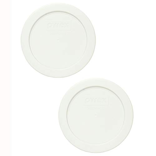 Pyrex 7200-PC White Round Plastic Food Storage Lid - 2 Pack