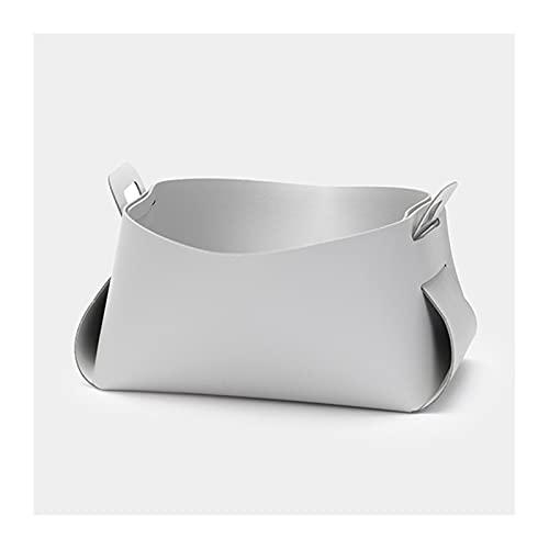 ZOGBX Svuota Tasche da Ingresso Moderno, Vassoio Portaoggetti in PU Pelle, Vassoio per Organizzatore di Gioielli, Organizzatore di Stoccaggio del Comodino, Organizzatore per Chiavi (Color : Gray)