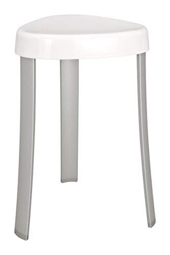 WENKO Hocker Corrente Weiß - Badhocker, Kunststoff, 37 x 45 x 37 cm, Weiß