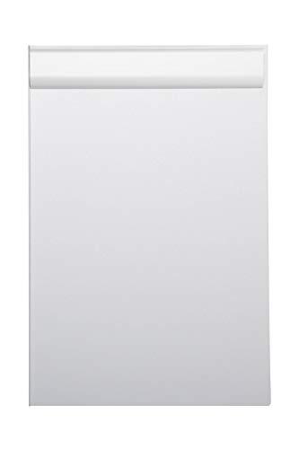 Maul Schreibplatte, Klemmbrett, DIN A4 hoch, Anschlagkante, Aluminium, 10 mm Klemmweite, 1 mm Plattenstärke, Silber