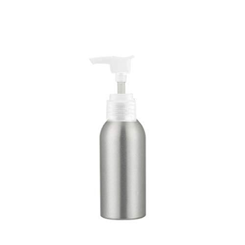 Bodhi200 0 flacon à pompe en aluminium avec tête de pompe vide pour cosmétiques, crèmes, émulsions, gel douche, shampooing