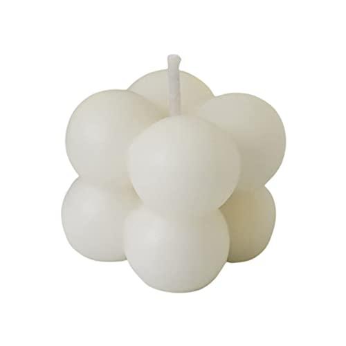 WGDPMGM Vela Cubo Creativo perfumado Velas para el hogar Oficina geométrica con Perfume Velas Lindos Regalos de cumpleaños Accesorios de Fotos (Color : Gold)