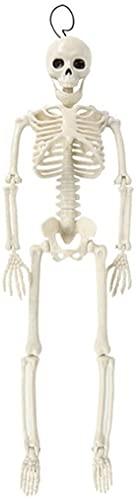 Tete de Mort Decoration Crâne Fluorescent Lumineux Halloween, Jouets d'horreur intérieure et extérieure, Maisons hantées, Accessoires fluorescents, Nouveaux Jouets intéressants (Color : S)