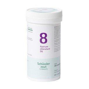 Schussler zout pfluger nr 8 Natrium Chloratum D6 400 tabletten Glutenvrij