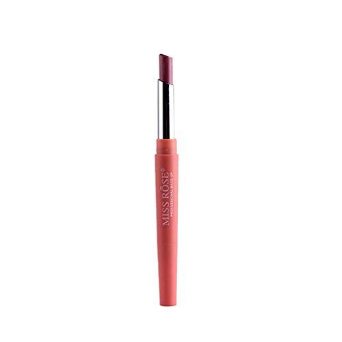 BOLANQ Miss Rose Doppelter End-Dauerhafter Lipliner Wasserdichter Lippenstift-Bleistift 8 Farbe