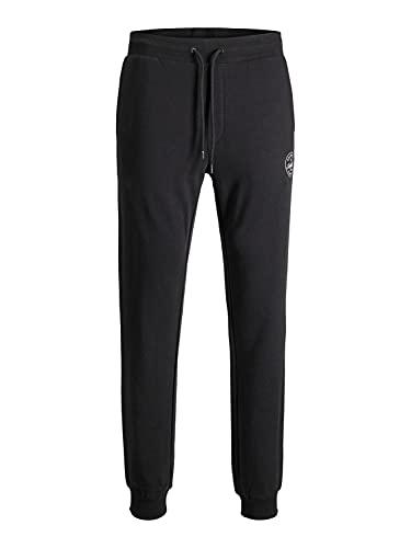 Mens Basic Jogger Sports Training Pants Elastic Waistband Comfortable Slim Fit Sweatpants Pockets JPSTGORDON, Couleurs:Noir, Taille de Pantalon:L