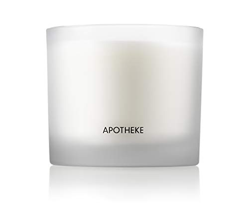 APOTHEKE Luxury Scented 3-Wick Jar Candle, Amber Woods, 32 oz - Large - Amber Woods, Lily of The Valley, & Jasmine Scent, Strong Fragrance, Aromatherapy, Long Lasting, Hand Poured in USA