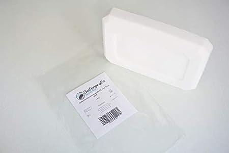 Jabón de glicerina, base de jabón – transparente/blanco (sin SLS) (2 kg), color blanco