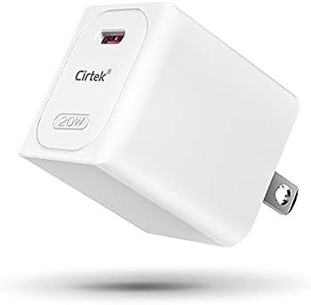 Cirtek 20W USB Type-C Power Adapter + USB-C to Lightning Cable