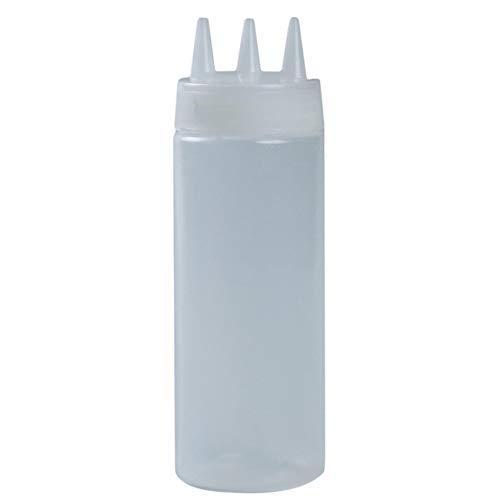 Generic Liangwan Salat Cruet Sirup Gewürzflaschen, Kunststoff-Quetschspender für Küchengrill,Weiß,340 ml