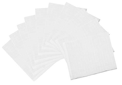 Zollner 10 manoplas de baño para bebé de muselina, blancas, algodón 100%