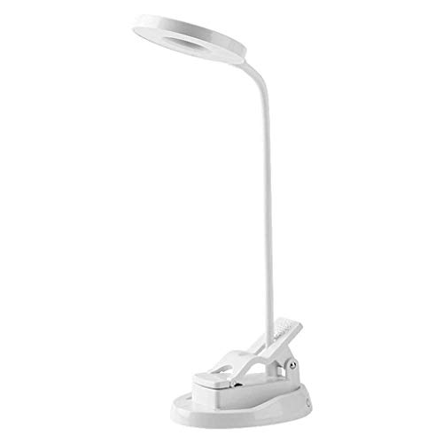 Lámparas de mesa Luces de lectura con luz de clip con puerto USB Fuente de luz de anillo Luz de lectura Lámpara portátil LED Clip Lámpara de mesa de protección ocular flexible Adecuado para la luz de
