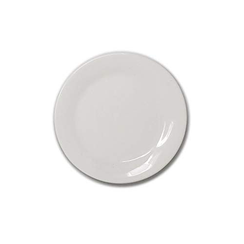 White Porcelain China Ceramic Saucer Bread Appetizer Kitchen Catering Restaurant Dinner 5 Inch Round Plate (4)