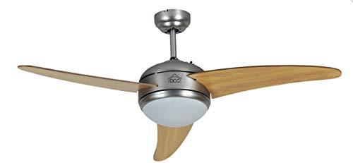 DCG VECRD60TL Ventilatore a soffitto con 3 pale, in legno