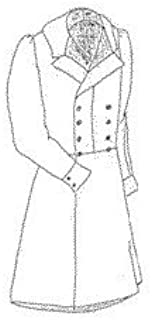 1840s Double Breasted Frock Coat Pattern - Small (34-38