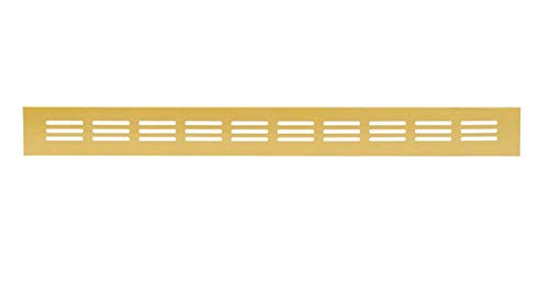Aluminium Lüftungsgitter Gold 40 x 300mm Stegblech Lüftung Alu-Gitter Gitter Möbelgitter Möbellüftung