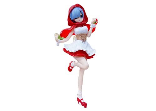 Re: La Vida en un Mundo Diferente Zero Red Hood Ram Rem Figura acción Ram Rem Figura Juguetes molos coleccionables para niños 21CM Pop Anime,nendoroid Anime,funkos Anime,hentaii Figure