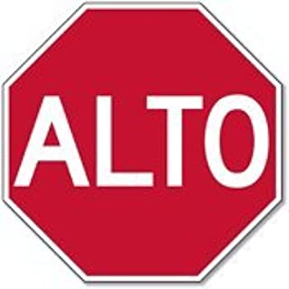 alto spanish stop sign