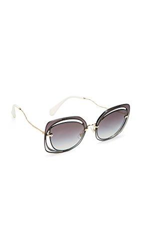 Miu Miu Women's Cutout Square Sunglasses, Blue/Grey, One Size