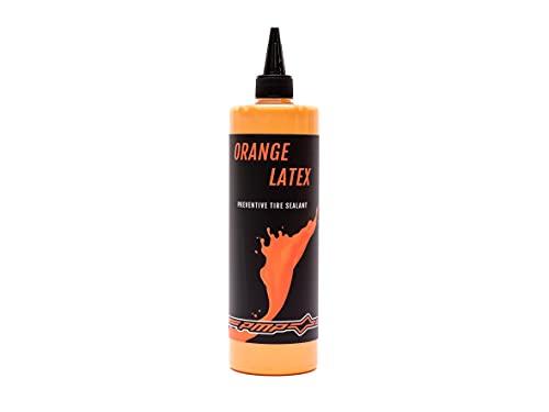 PMP Orange Latex - Líquido Sellante Antipinchazos para Neumáticos Tubeless. Ecológico, Concentrado y Inmediatamente Efectivo hasta 6 Meses de Uso. Botella 500 ml