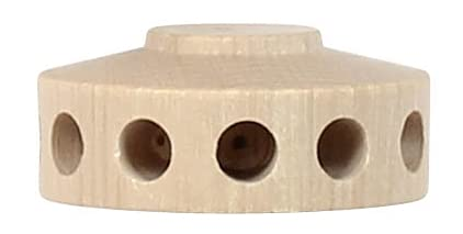 Ersatzteile & Bastelbedarf Pyramidennabe klein, 12 Bohrungen 5mm f. Pyramidenflügel Breite x Höhe x Tiefe 3,5 cmx1,5 cmx3,5 cm NEU Erzgebirge Pyramide Weihnachtspyramide