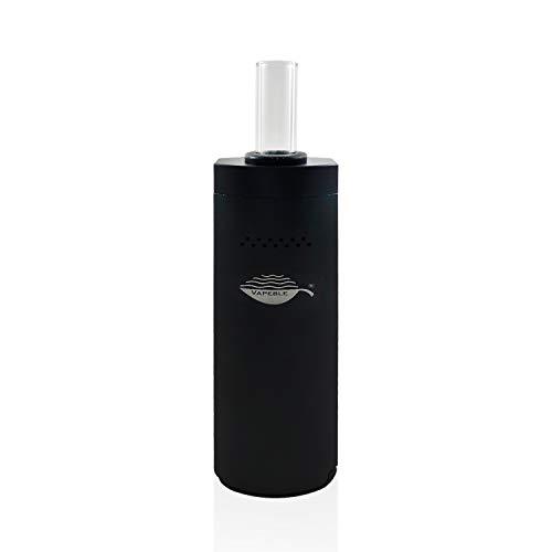 Vaporizer Vapeble Wolke premium Verdampfer mit Glasmundstück, Metallgehäuse, wechselbare 2600 mah Batterie, OLED Display und stufenloser Temperaturreglung - Dampf für Kräuter, Harze, Öle - Nikotinfrei