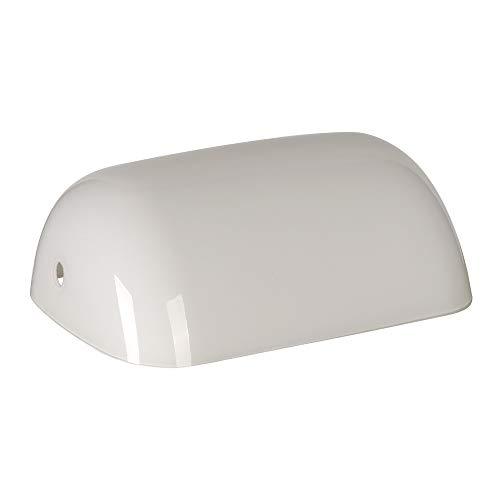 Newrays Ersatzglas Bankers Lampenschirmabdeckung für Schreibtischlampe (Weiß)