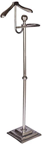 Better & Best Valet avec Base carrée, Aluminium, Argent, 41 x 25 x 121 cm