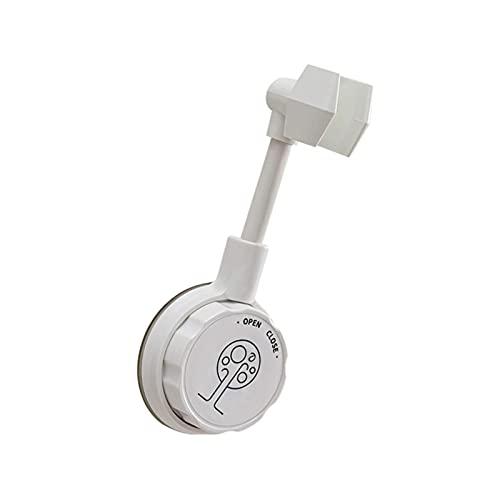 Soporte universal para cabezal de ducha con ventosa para ducha de pared, color blanco