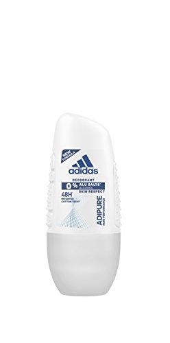 adidas adipure Deo Roll-on für Damen – Deodorant ohne Aluminium & Alkohol für 48h effektiven Deo-Schutz – pH-hautfreundlich – 1 x 50 ml