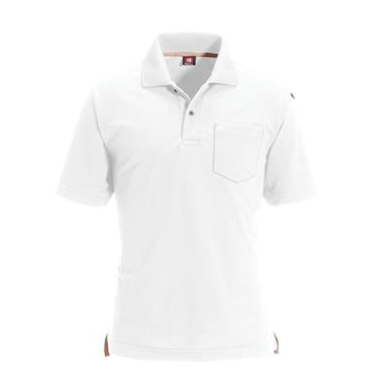 光沢磁石解明バートル:半袖ポロシャツ 型式:507ホワイトL