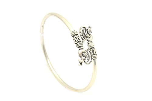 Rajasthan Gems Handgefertigtes Armband Armreif weiblich 925 Sterling Silber Vogel Pfau Figur
