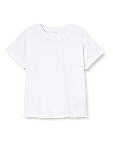 NAME IT Nkftixy SS Top Noos Camiseta, Bright White, 122-128 para Niñas