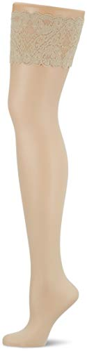 Wolford Damen Satin Touch 20 Stay-Up 20 DENIER marmor XS
