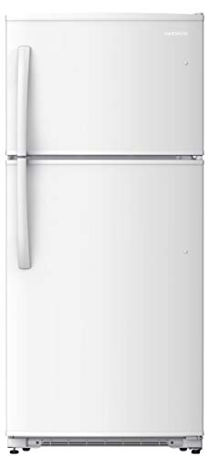 Daewoo RTE21GSWMD Top Mount Refrigerator, 21 Cu.Ft, White