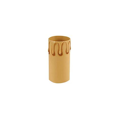Lampo Finta Candela Con Goccie Cover Rivestimento Di Plastica Per Portalampada - E27 Anticato, 85 mm