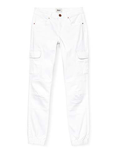 ONLY Damen ONLMISSOURI REG ANK Life Cargo PNT NOOS Jeans, White, 42/30
