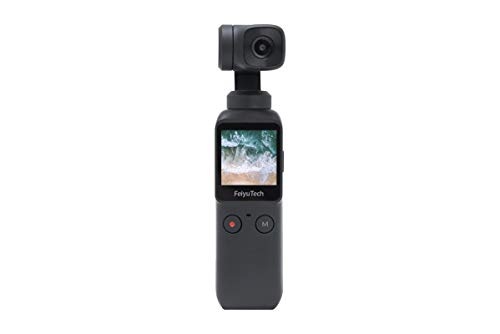 Zoccolo tascabile a 3 assi per fotocamera, 4 K HD 8 X, Smart Tracking, Hyperlapse, Motion Trail Time-lapse, Panorama 1,3'Touchscreen 1/1,25' su smartphone video Vlog Feiyu Pocket Gimbal