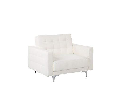 Beliani Moderner Sessel Kunstleder weiß Aberdeen II
