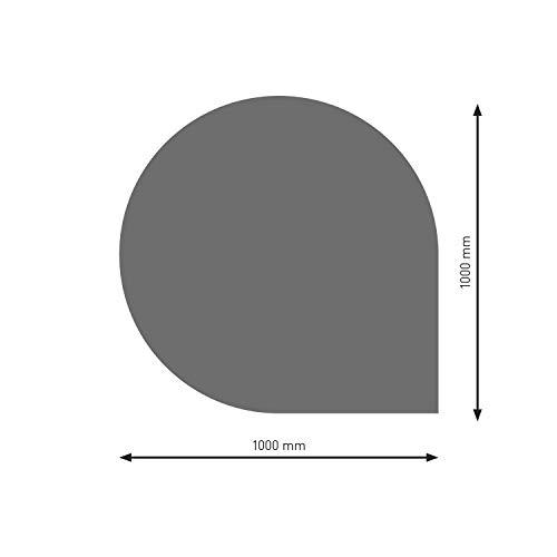 Schindler + Hofmann PU074-2B6-gg Bodenplatte B6 Tropfen gussgrau pulverbeschichtet 1000 x 1000 mm