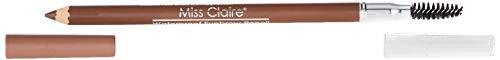 Miss Claire Waterproof Eyebrow Pencil/Mascara Brush, Light Brown, 1.4 g