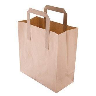 Take Away/café/cas recyclé Petit sac en Papier Marron Lot de 500 jetables services de restauration facile, idéal pour une utilisation professionnelle ou Parties