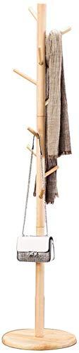 YLCJ kapstok Effen houten kapstok Zwart walnoot kleur Hout kleur Wit disc basis Kan worden opgehangen Kleding Hoed Tas (Kleur: honing kleur)