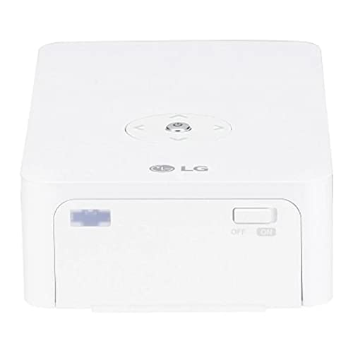 LG Beamer PH30JG bis 254 cm (100 Zoll) CineBeam Native HD LED Projektor (250 Lumen, Auto Keystone, integrierter Akku) weiß