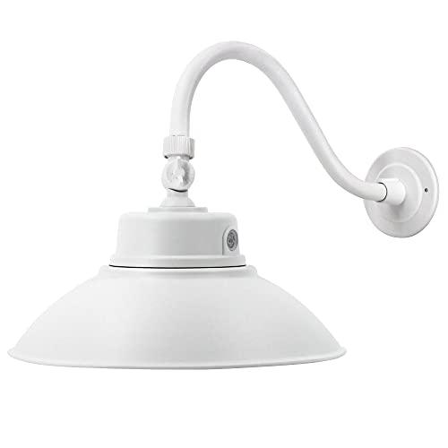 14in. White LED Gooseneck Barn Light 42W 4000lm Warmlight LED Fixture...