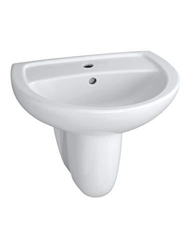 Bastia-Handwaschbecken 55cm aus Keramik weiß 110000000