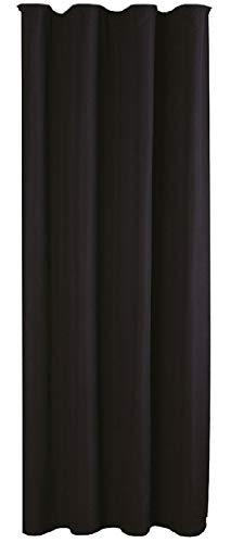 Bestlivings Blickdichte Schwarze Gardine mit Kräuselband in 140x245 cm (BxL), in vielen Größen und Farben