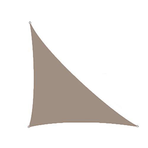 CH-GTJ Sun Shade Sail, Shade Sail UV Block Shade for Outdoor Cover Awning Backyard Garden Yard with Free Ropes,Khaki,3X4X5m